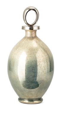KOMI TALL GLASS BOTTLE W/ALUMINUM STOPPER
