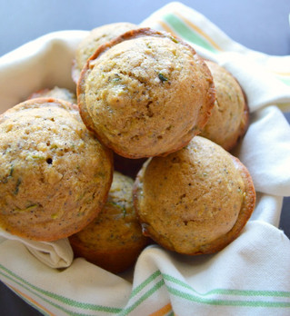 Lemon & Zucchini Muffins