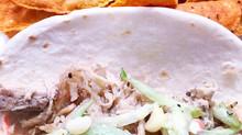 Shredded Pork Tacos & Homemade Coleslaw