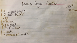 """""""Mary's"""" Sugar Cookies & Frosting"""