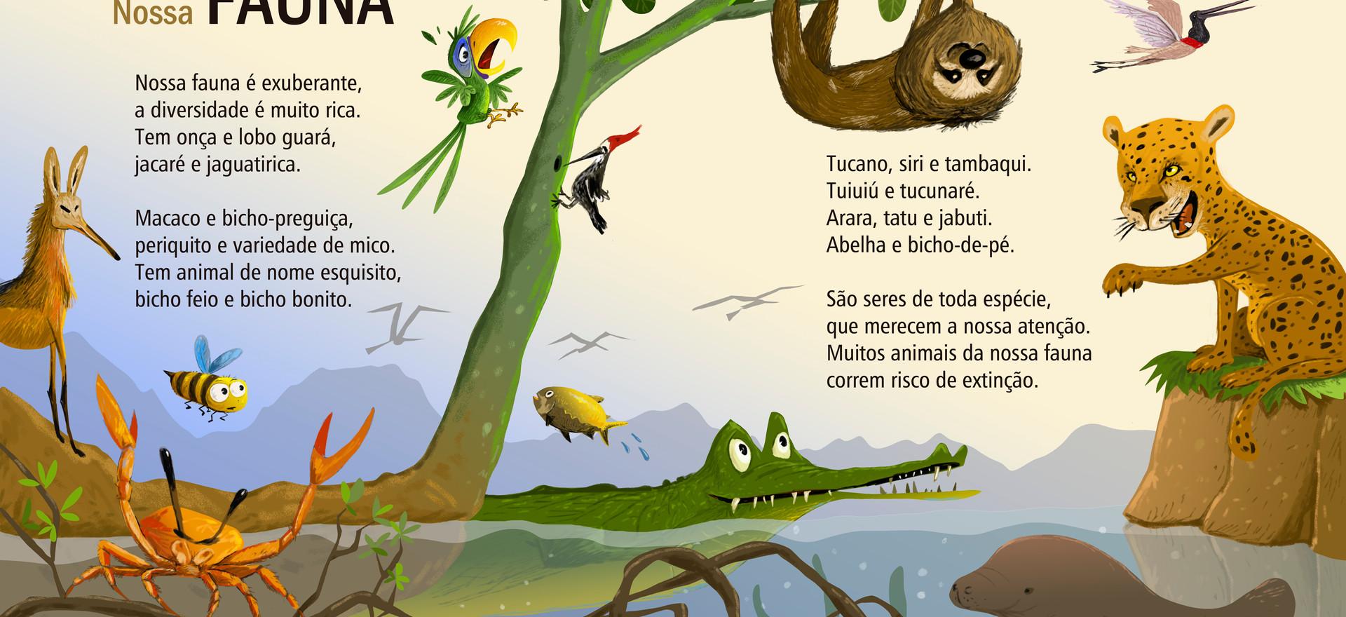 Ilustração para o livro: Venha Conhecer o Brasil