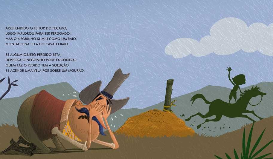 Ilustração para o livro: Negrinho do pastoreio