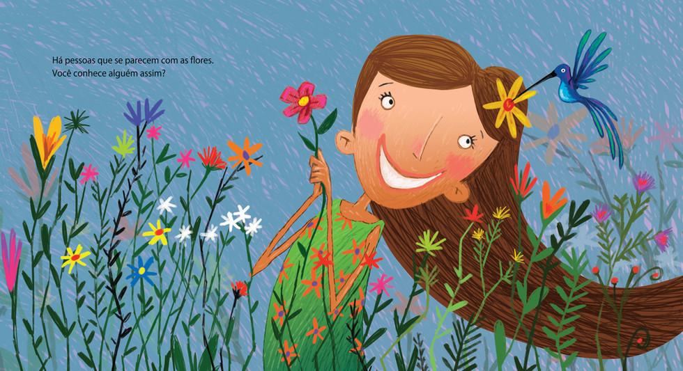 Ilustração para o livro: Se as flores pudessem falar