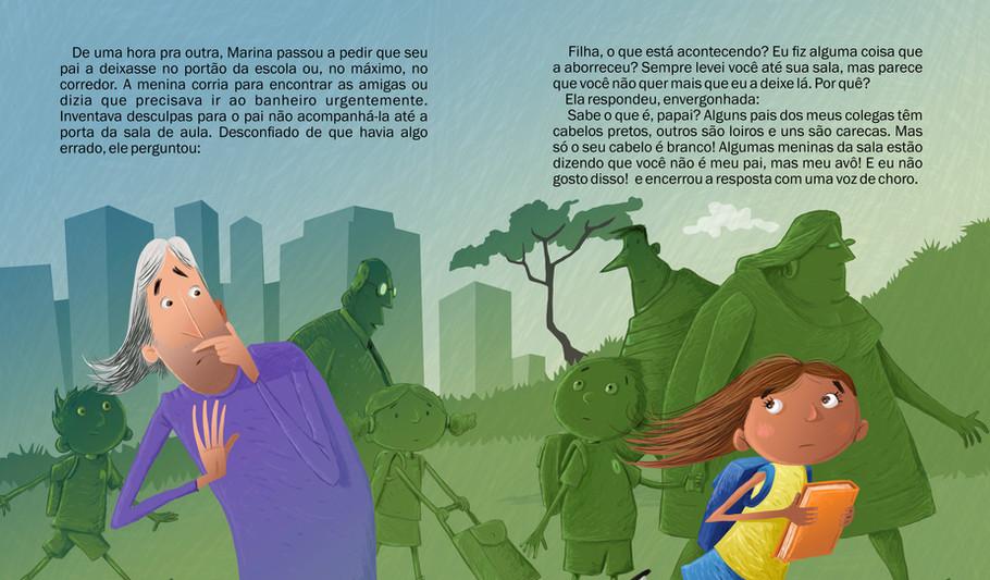 Ilustração para o livro: Os cabelos brancos de papai