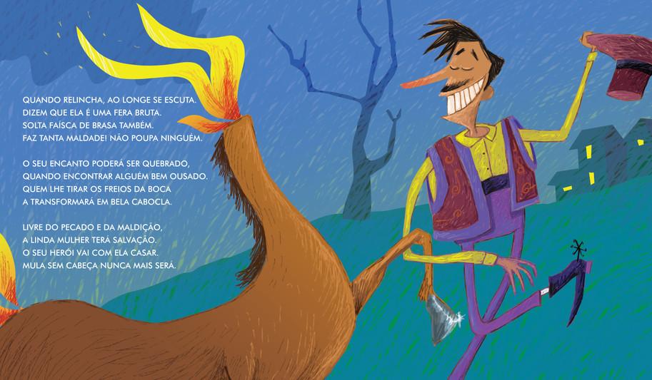 Ilustração para o livro: Mula Sem Cabeça