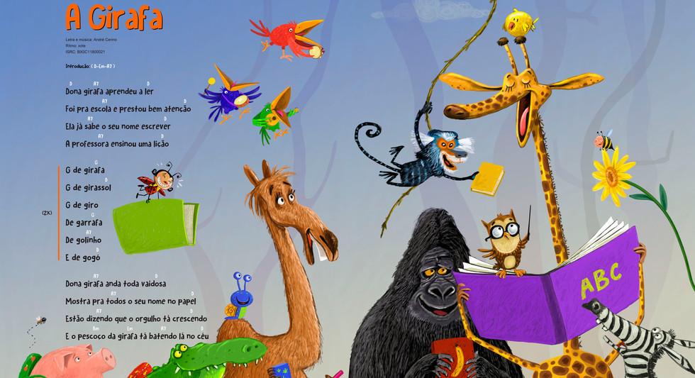 Ilustração para o livro: Turma do Caracol