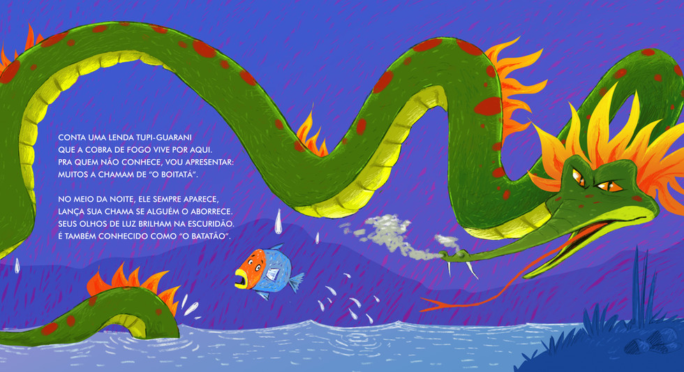 Ilustração para o livro: Boitatá
