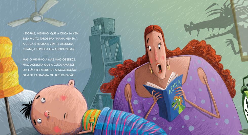 Ilustração para o livro: Cuca