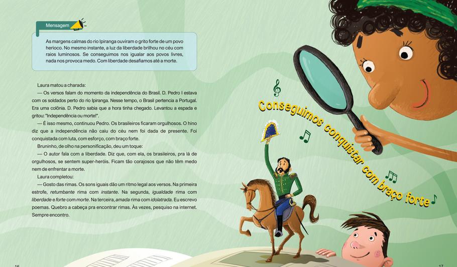 Ilustração do livro: Nas entrelinhas do Hino Nacional