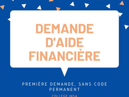 Demande AFE - SANS Code Permanent