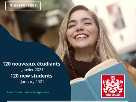 Bienvenue aux nouveaux étudiants!