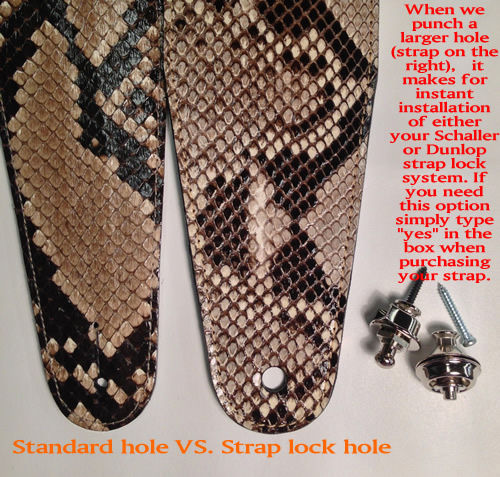 Standard hole vs. Strap Lock Hole