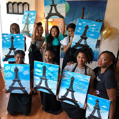 Painting Pretty takes Paris