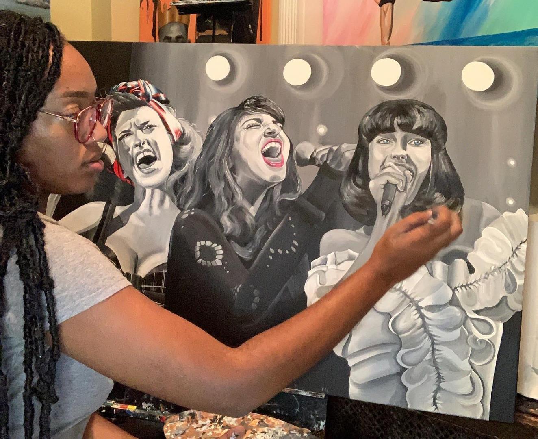 3 piece portrait