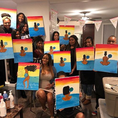 Pregnancy Reveal Paint Class