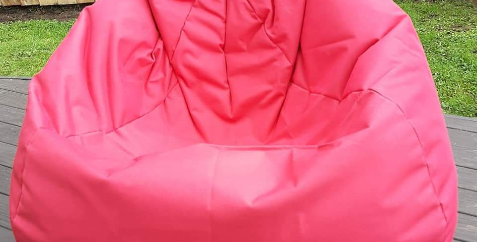 200L Red filled bean bag Hire
