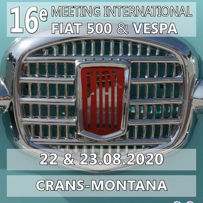 16ème Meeting International Fiat 500 & Vespa Crans-Montana