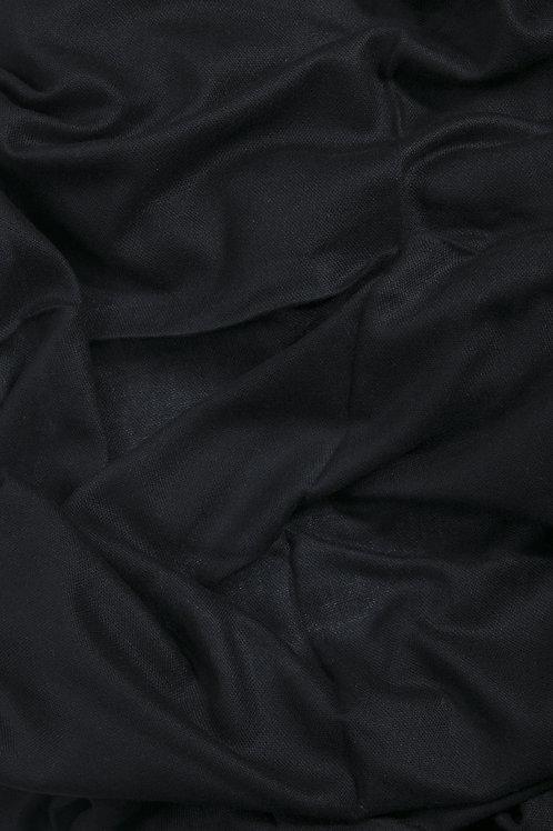 Grande écharpe voile de cachemire - Noir
