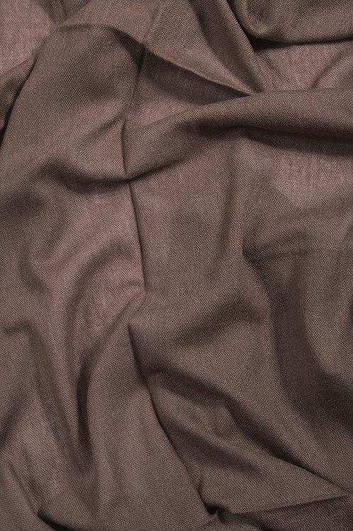 Grande écharpe voile de cachemire - Cacao