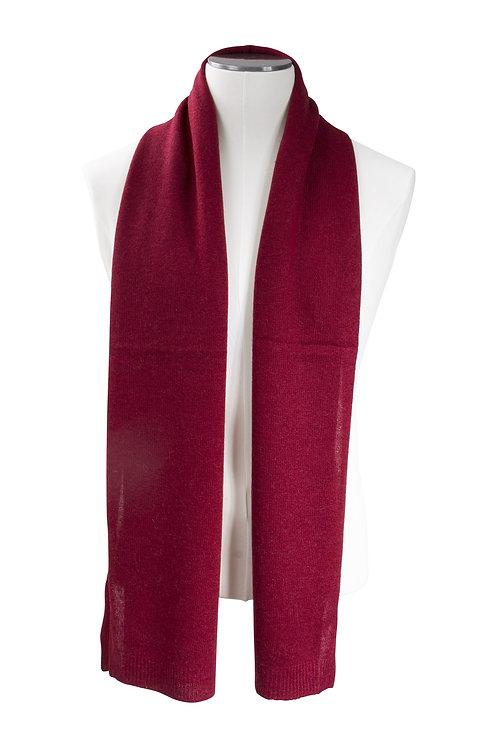 Écharpe cachemire tricotée - Rouge feu