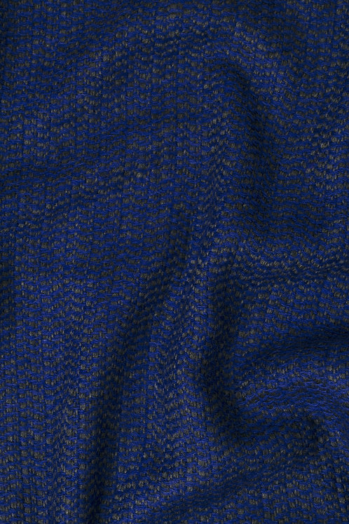 Étole cachemire mélangé bleu foncé