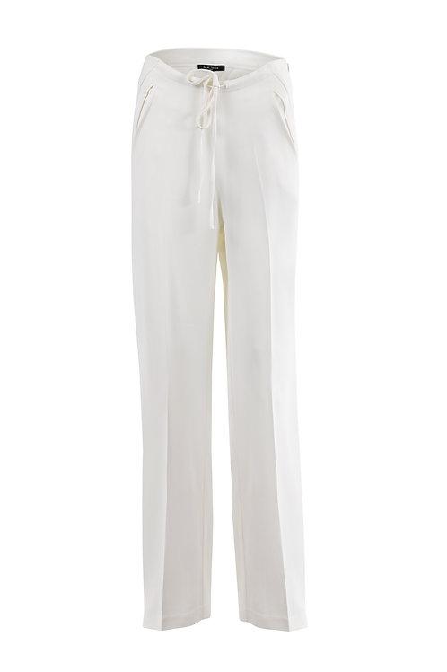 Pantalon fluide évasé blanc