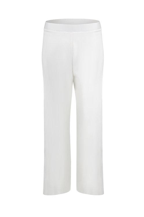 Pantalon droit fluide blanc