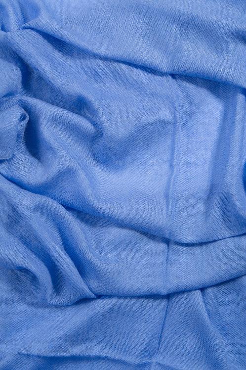 Grande écharpe voile de cachemire - Azure