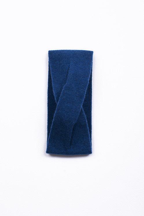 Bandeau 100% cachemire - Bleu Nuit