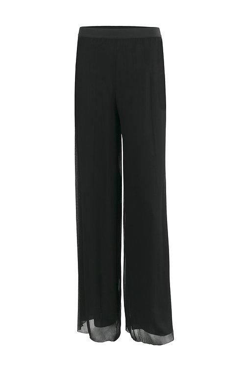 Pantalon en crépon de soie