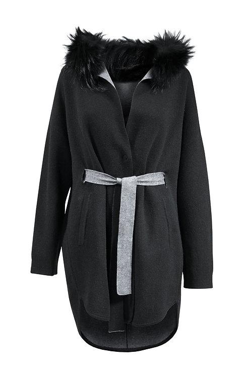 Manteau Supréma ¾ laine et cachemire deux tons