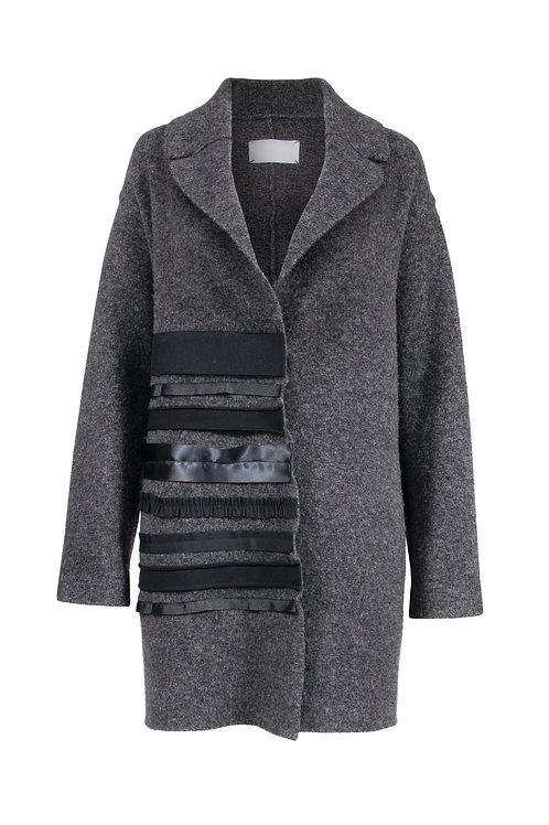 Manteau laine ¾ marron foncé