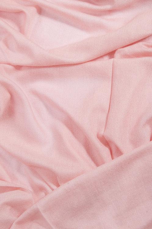 Grande écharpe voile de cachemire - Rose