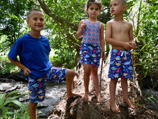 5oo4 Kids' Swim Trunks