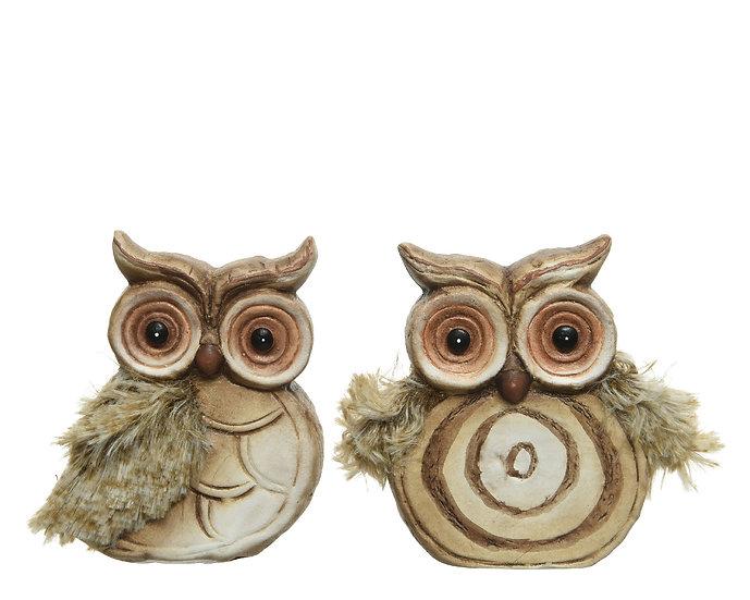 Terracotta Owl Ornament (large)