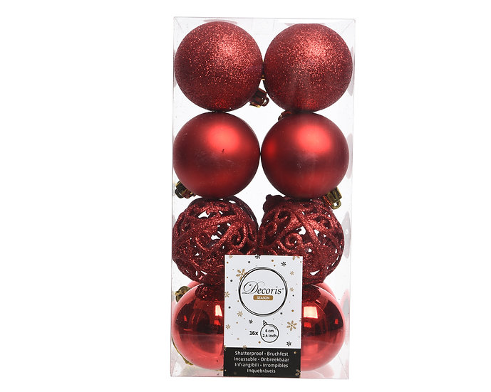 Box/16 Shatterproof Baubles
