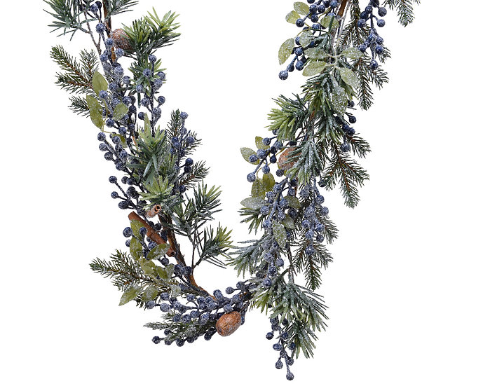 Frosted Deco Garland