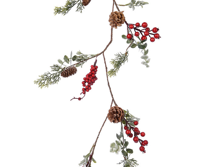 Garland with berries and leaves