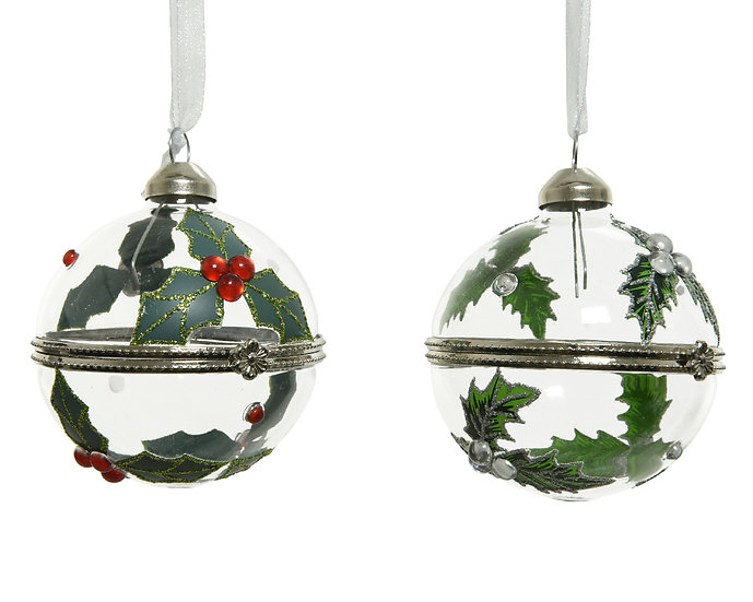Glass opening Gift Bauble