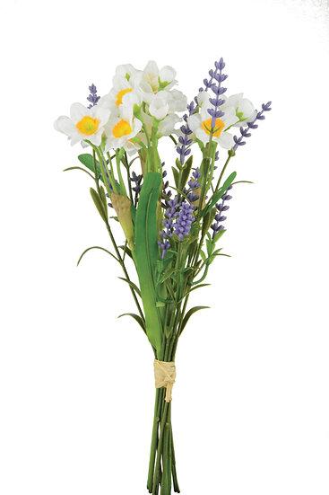 Narcissus/Lavender Bundle (White)