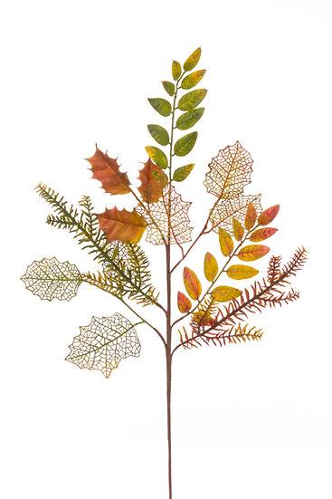 Autumn Mixed Leaf Spray