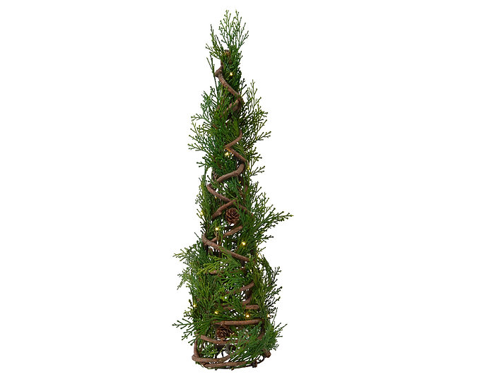 Pre-Lit Conifer Pyramid Tree
