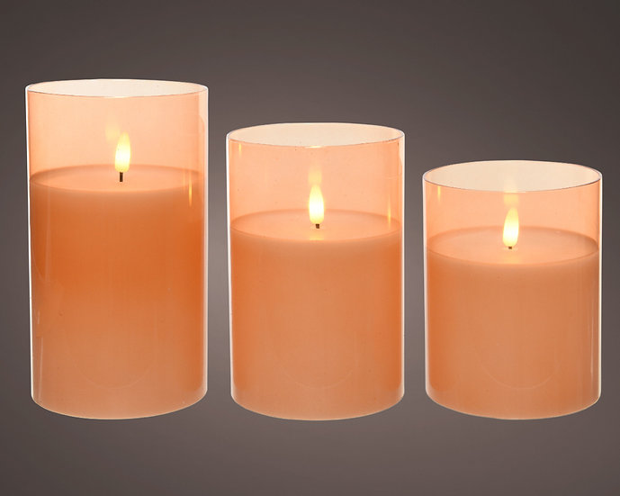 LED Candles in Glass