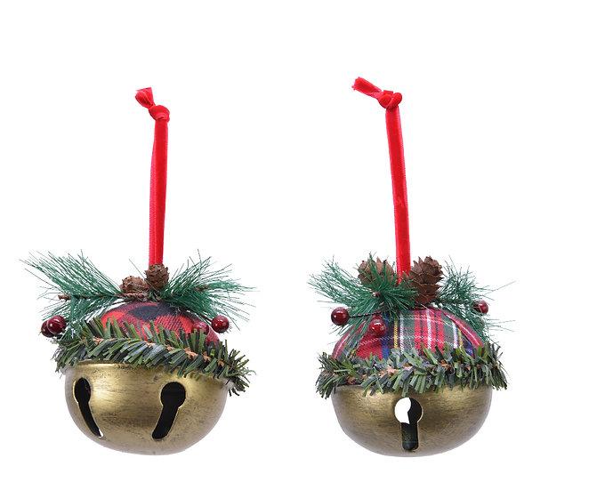 Hanging Tartan Jingle bell
