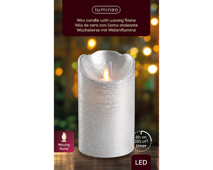 Silver LED Candle