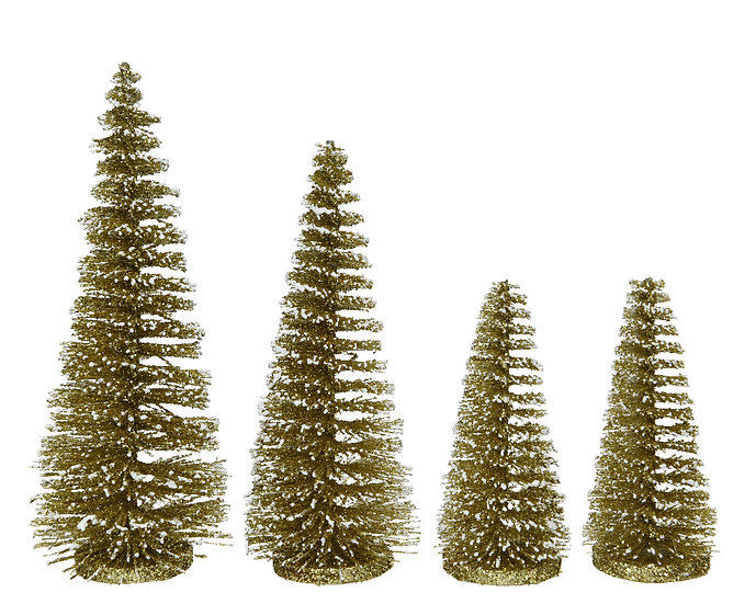 Set of 4 glitter Trees
