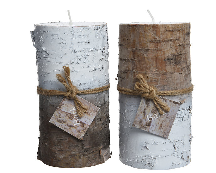 Bark Covered Candles