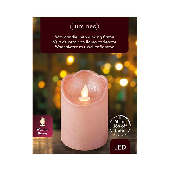 Pink LED Candle