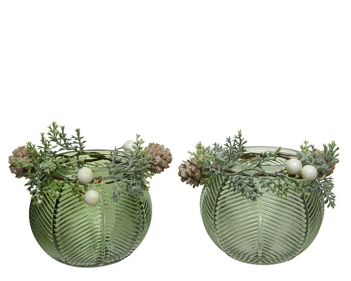 T-Light holder with Wreath