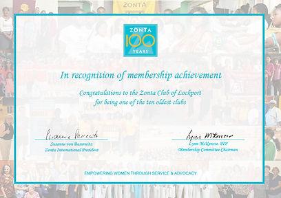 Zonta Certificate of Achievement Award.j